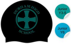 Tempest - Black Swimming Hat - with Durham High School Logo