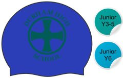 Booth - Blue Swimming Hat - with Durham High School Logo