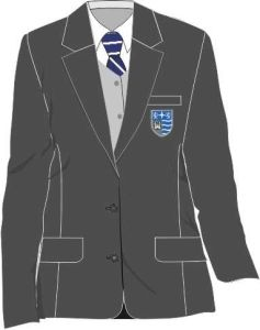 Grey Girls Contemporary Blazer (AGB) - Embroidered with Teesdale School Logo