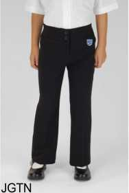 Black Junior Girls Twin Pocket Trouser (JGTN) - Embroidered with Teesdale School Logo