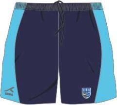 Navy/Cyclone AKOA Sector Panel Multisport Short (SSH) - Embroidered with Teesdale School Logo