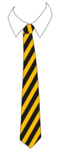 Black/Gold School Tie for Park View School (Compulsory For Year 7's)