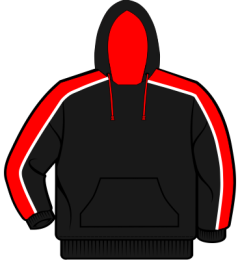 Black/Red Team Hoodie - Embroidered with King Edward VI School Logo