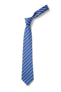"Royal/White Clip-on School Tie (KS4) 19"""