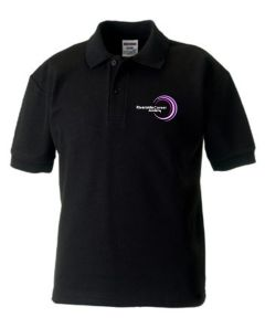 Black Polo - Embroidered with Purple Riverside Career Academy logo