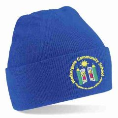 Royal Knitted Hat - Embroidered with Walkergate Community School logo