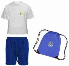 FULL PE Kit (T-Shirt, Shorts & PE Bag) - Embroidered with Walkergate Community School logo