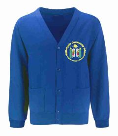Royal Sweat Cardigan - Embroidered with Walkergate Community School logo