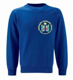 Royal Sweatshirt - Embroidered with Walkergate Community School logo