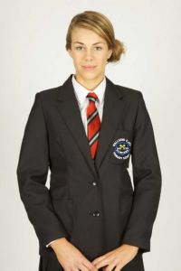 Girls Black Blazer - Embroidered with Wallsend St Peters CofE Primary School Logo