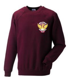 Maroon PE Sweatshirt- Embroidered with Wellfield Middle School