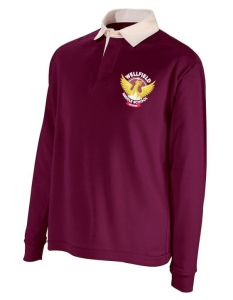 Maroon Rugby Shirt- Embroidered with Wellfield Middle School