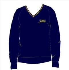 Navy/Gold Knitted Jumper - Embroidered With West Jesmond PS Logo