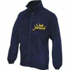 Navy Fleece - Embroidered With West Jesmond PS Logo