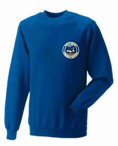 Royal Sweatshirt Crew Neck - With Westmoor Primary School Logo