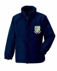 Navy Reversible Coat with Whitehouse Primary School Logo
