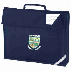 Navy Book Bag with embroidered Whitehouse Primary School Logo