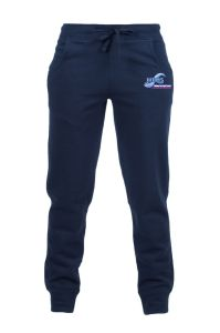 PE Navy Jogging Bottoms - Embroidered with Whitley Bay High School Logo