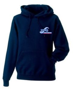Navy Hoodie - Embroidered With Whitley Bay High School Logo