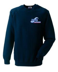 Navy Sweatshirt (Crew Neck) - Embroidered With Whitley Bay High School Logo