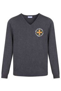 * NEW * Year 5 Grey Jumper - Embroidered with Whitley Memorial CE Primary School Logo