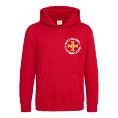 Red Hoodie - Embroidered with Whitley Memorial C of E Primary School Logo