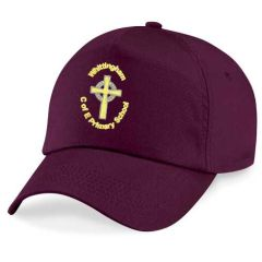 Burgundy Cap - Embroidered with Whittingham C of E Primary School logo