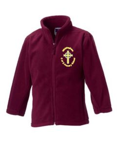 Maroon Fleece - Embroidered with Whittingham C of E Primary School Logo