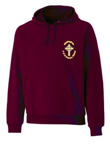 Maroon Hoodie - Embroidered with Whittingham C of E Primary School Logo