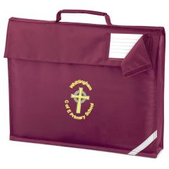 Maroon Bookbag - Embroidered with Whittingham C of E Primary School logo