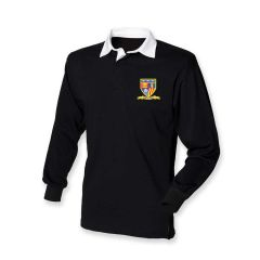 Black Rugby Top - Embroidered with Whytrig Middle School logo
