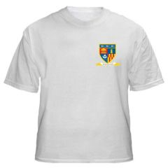 White PE T-Shirt - Printed with Whytrig Middle School logo