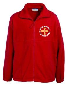 Red Fleece - Embroidered with Whitley Memorial CE Primary School Logo