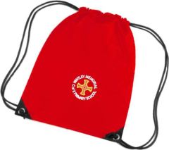 Red PE Bag - Embroidered with Whitley Memorial CE Primary School Logo