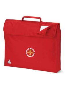 Red Book Bag - Embroidered with Whitley Memorial CE Primary School Logo