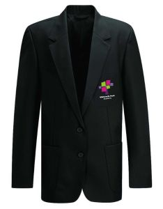 Girls Black Blazer - Embroidered with Whitworth Park Academy logo