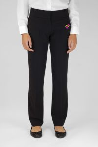 Girls Senior Black Twin Pocket Trousers (GTN) - Embroidered with Whitworth Park Academy logo