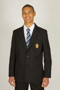 Boys Black Blazer - Embroidered with Wolsingham School logo