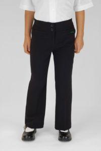 Black Junior Girls Twin Pocket Trouser (JGTN) - Embroidered with Walker Riverside Academy Logo