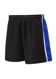 PE Shorts - Black/Royal/White - For Westmoor Primary School Logo